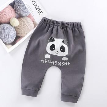 Noworodka spodnie długie spodnie Panda spodnie odzież dla chłopca dziewczyna spodnie Pantolon ubrania tanie i dobre opinie Cartoon REGULAR Unisex COTTON Na co dzień Pasuje prawda na wymiar weź swój normalny rozmiar Suknem Elastyczny pas