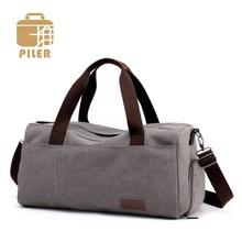 Men Handbag Sport Large Canvas Bag for Women Travel Weekend Duffel Luggage Bag Women Travel Tote Bags Unisex Canvas Shoulder Bag недорого