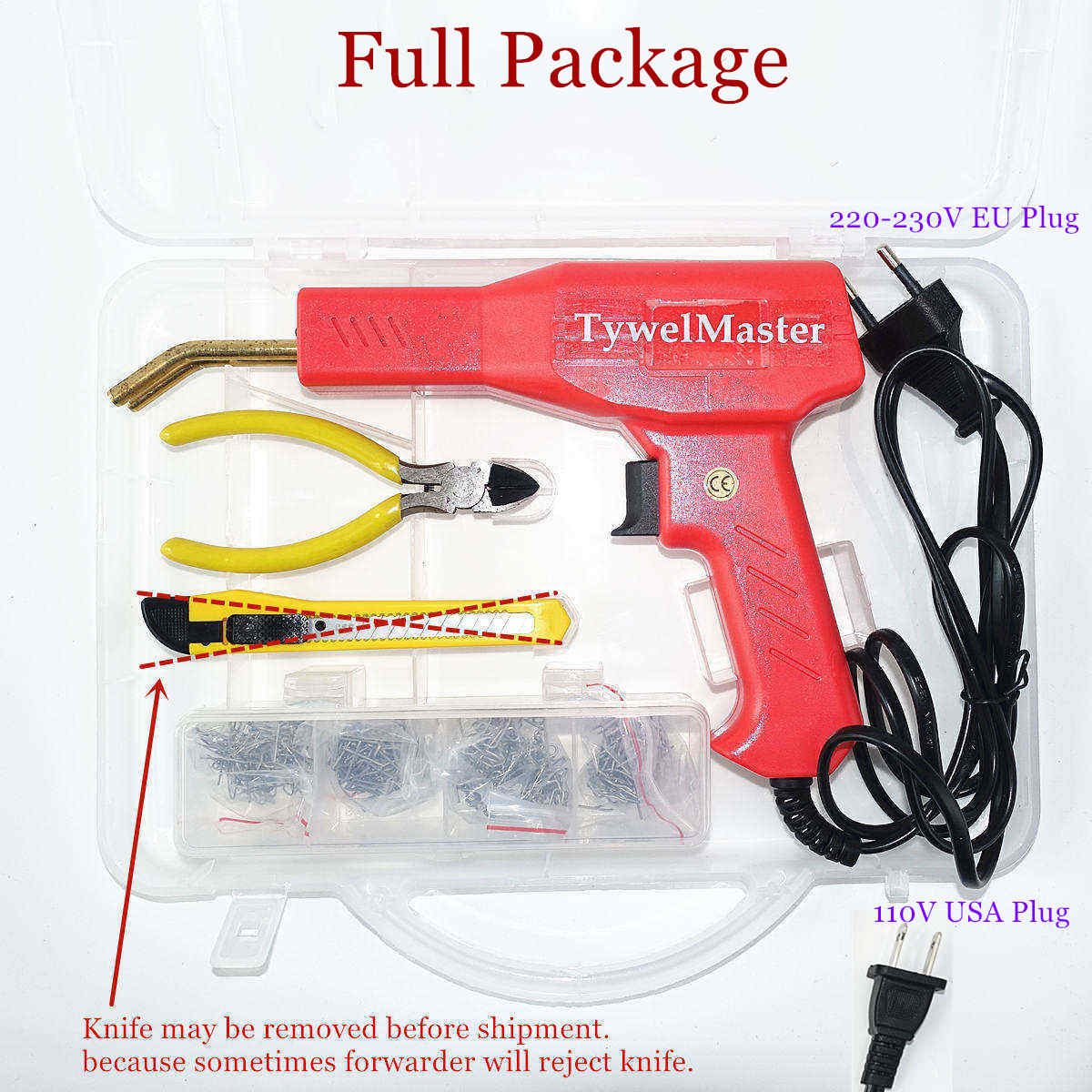 Plastic Welder Staplers-Machine Garage-Tools Car-Bumper-Repair Hot Handy