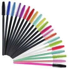 Brosses à cils jetables en Silicone, bâton de Mascara, applicateur de maquillage, Extension de cils, outils de maquillage, 100 pièces