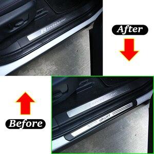 Image 5 - Für Land Rover Discovery Sport L550 19 20 ABS Schwarz Außerhalb Tür Schwellen verschleiss Schwelle Schutz Platte Abdeckung Trim auto Zubehör