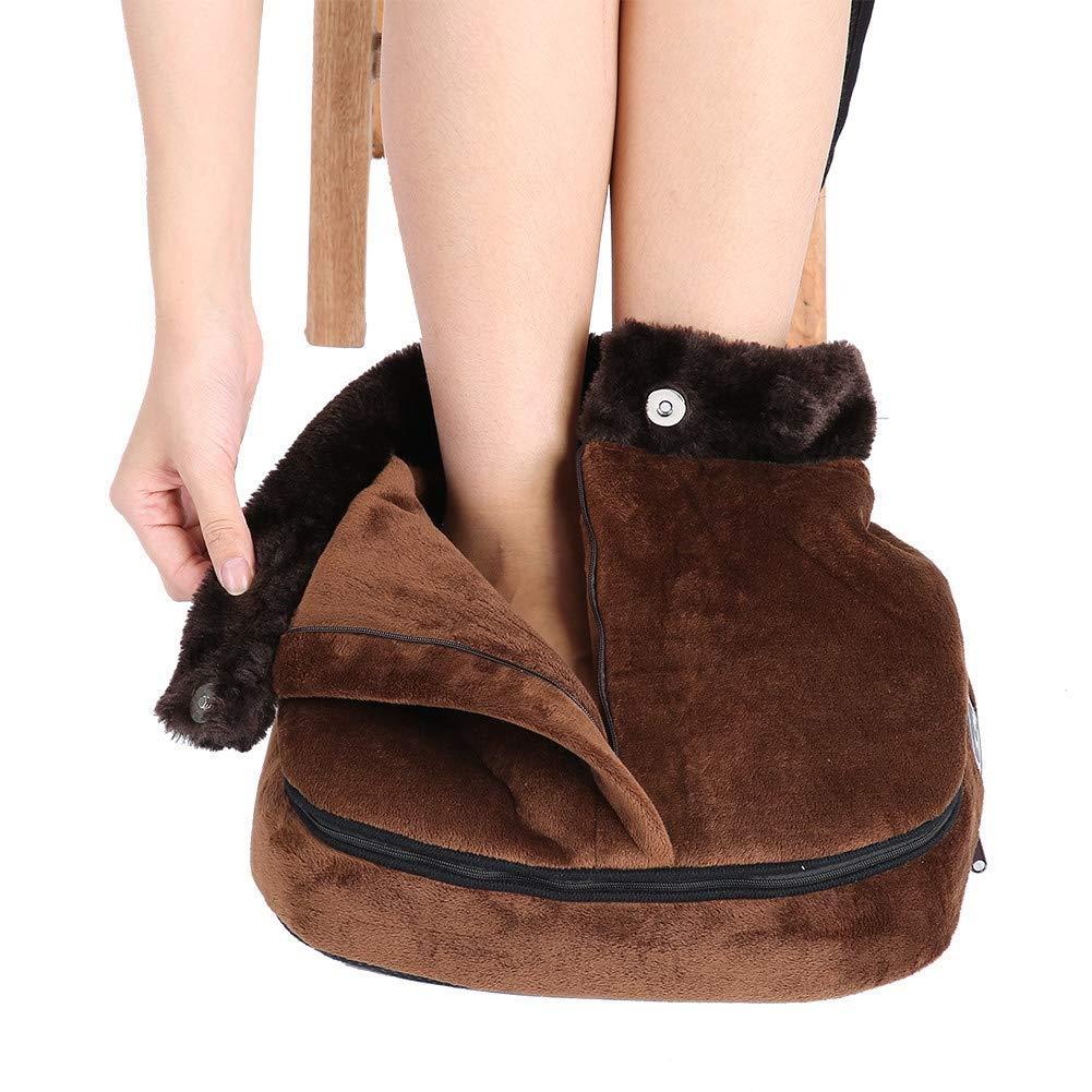 Electric Heated Foot Warmer Cosy Unisex Velvet Feet Heated Foot Warmer Massager Big Slipper Foot Heat Warm Massage Shoes EU/US