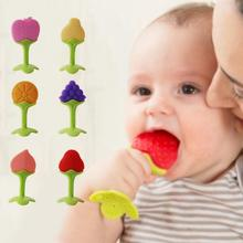 EE Baby teething toys infant silicone grinding teeth toy newborn creative fruit