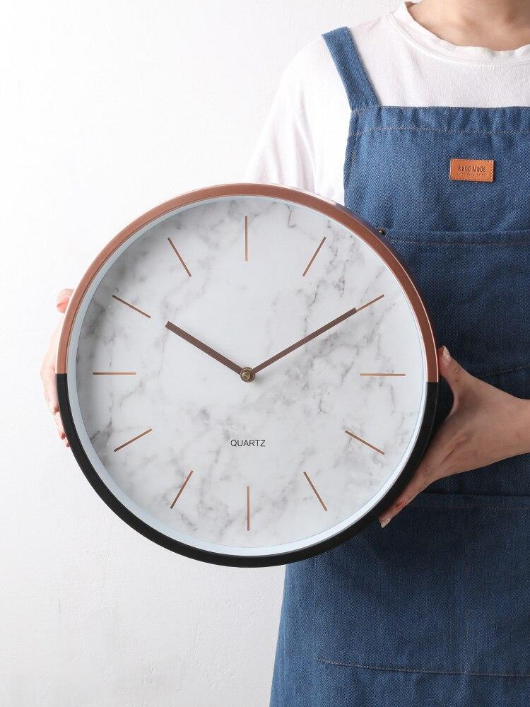 Horloges murales nordiques décor à la maison moderne silencieux horloge mécanisme créatif montre maison salon cuisine Duvar Saati idées cadeaux FZ294
