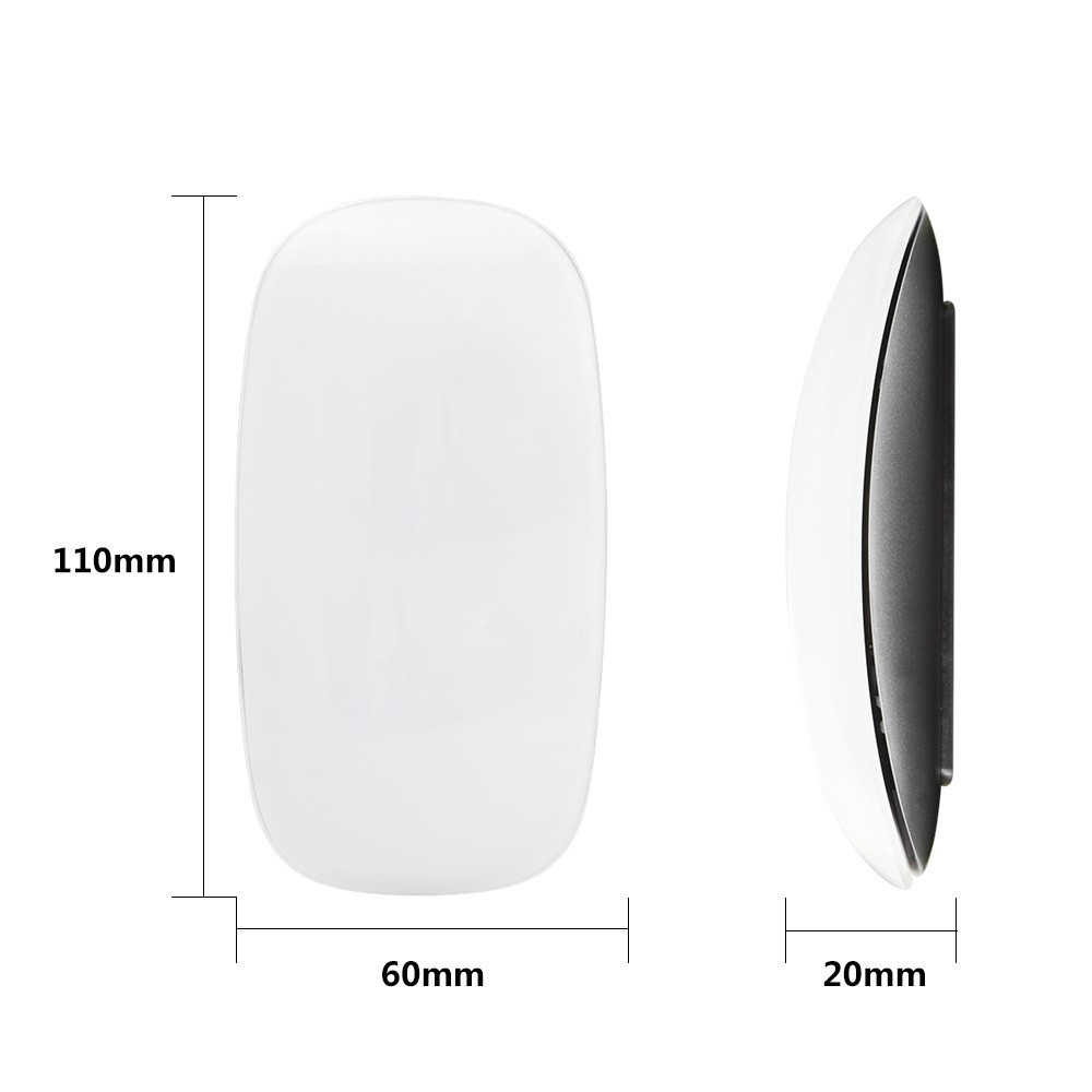 Nirkabel Ultra Tipis Sakti Computer Mouse untuk Apple MacBook Ergonomis Arc Touch USB Optik Mause 3D PC Tikus 2 untuk laptop Desktop