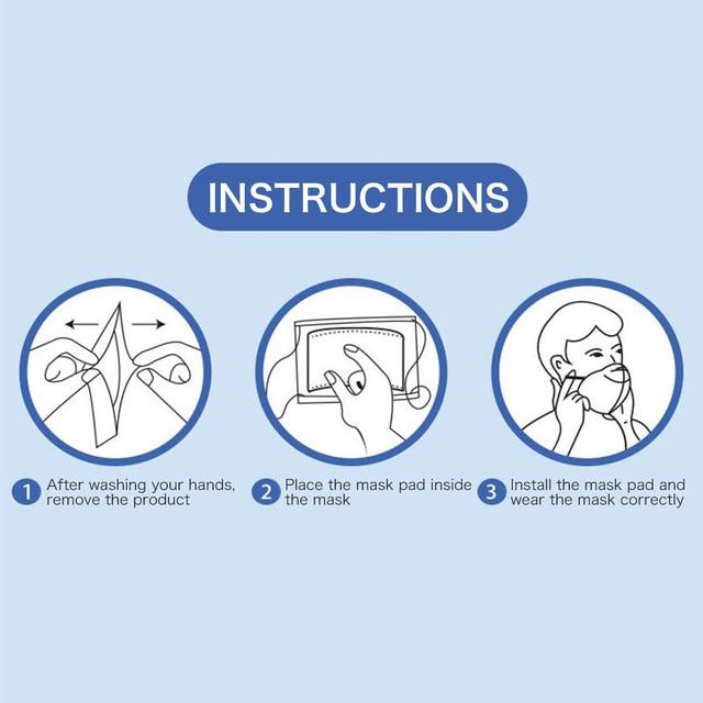 100Pcs Mask Gasket Respirator Mask Filter Cotton Mat Cartridge Anti Fog Prevention And Haze Anti Dust Flu Mouth Face Mask Gasket 4