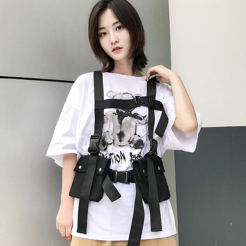 Men Features Tactical Hip Hop Streetwear Functional Chest Vest Rig Waist Bags Women Oxford Fanny Pack Adjustable Streetwear Bag