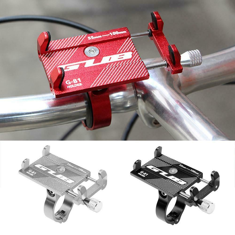 Bicycle Phone Holder Bike Handlebar Scooter Aluminum Alloy Clip Stand GPS Bicycle Mount Bracket For 3.5-6.2inch Smartphone FS