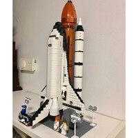 Space Shuttle Expedition ideal Plane 1230PCS Rocket building block constructor compatible 10231 10213 astronaut figures