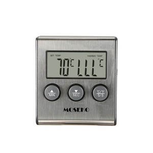 Image 2 - MOSEKO Digital Kitchen Thermometer Oven Food Cooking Meat BBQ Probe Thermometer With Timer Milk Water Temperature Cooking Tools