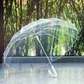 зонт женский Полуавтоматические прозрачный зонт для защиты ветра и дождя длинной ручкой зонт трость Прозрачные зонтики
