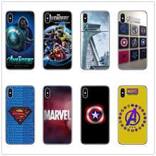 Marvel Avengers Shield Logo Phone Case covers for iphone apple X 7 8 6S PLUS 5 6 5S SE XR XS MAX Superhero cases