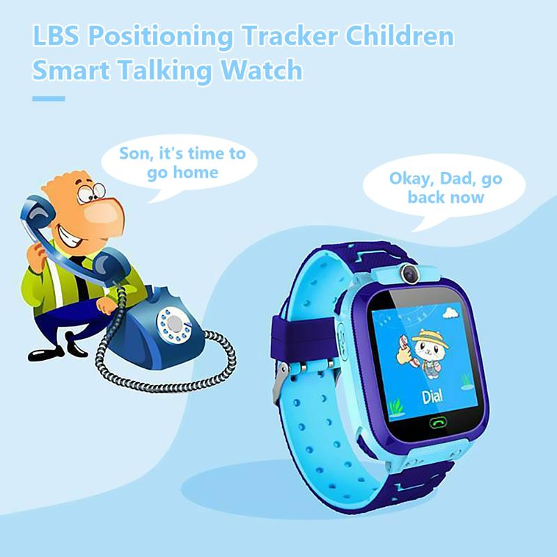 Q12 Non-Waterproof Heart Rate LBS Locator Kids Digital Smart Watch Phone Support Dropshipping