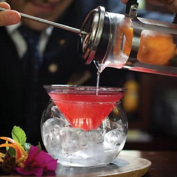 Ołów-kryształ bez ołowiu molekularne szkło martini dwuwarstwowe szkło koktajlowe szkło trójkątne ze szkła Margaret tanie i dobre opinie ROUND Ce ue Lfgb Koktajl szkła Ekologiczne Zaopatrzony