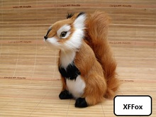 big simulation squirrel model polyethylene&furs real life cute squirrel doll gift 18x10x20cm xf2251 цена