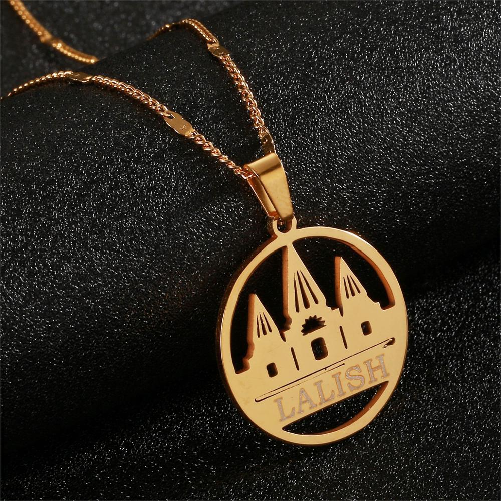 Ожерелья-подвески из нержавеющей стали, золотистого цвета