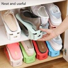 Dupla camada de armazenamento de sapato ajustável saco moderno sapato rack colorido sapato armário de armazenamento de limpeza armário de armazenamento de sapato prateleira