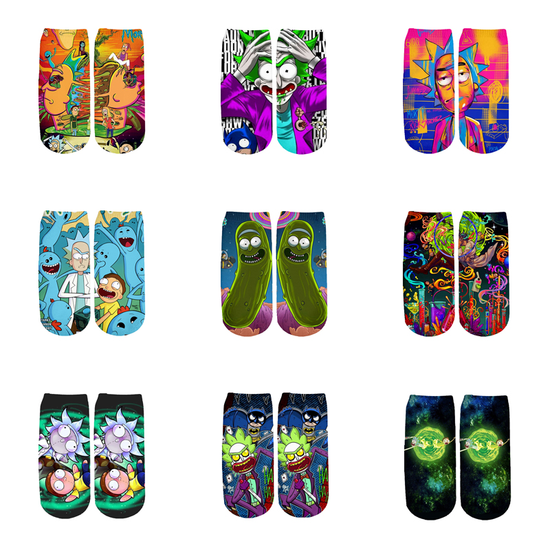 Newest 3D Printed Cartoon Cute Short Ankle Socks For Men Women Harajuku Korean Socks  RS-005