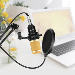 Image 5 - bm 800 Studio Microphone Kits For Computer Condenser Phantom Power Karaoke Microphone Bundle bm800 Pop Filter bm 800 Mic Stand