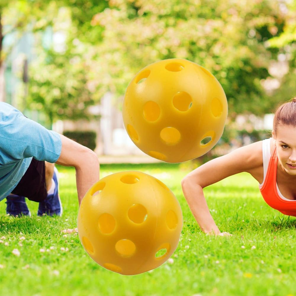 3pcs Air Flow Hollow Balls Training Balls for Practice (Yellow)