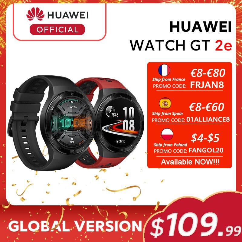 Глобальная версия часов HUAWEI GT 2e Смарт-часы с кислородом крови 1,39 ''AMOLED экраном 14 дней жизни 5ATM водонепроницаемый трекер сердечного ритма