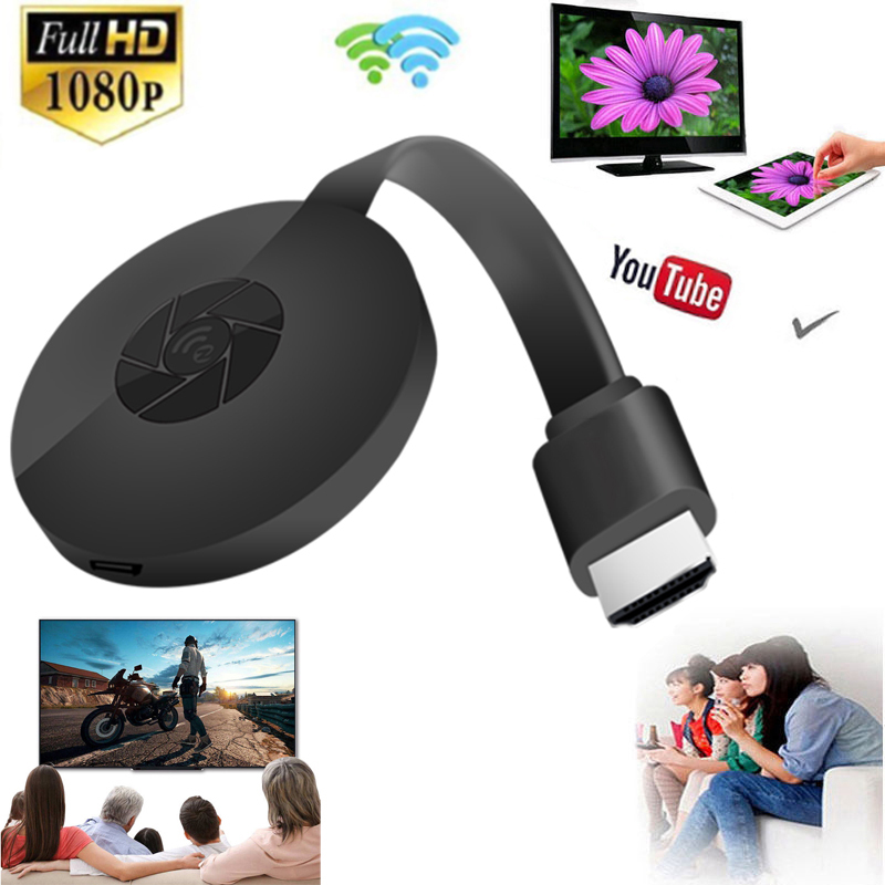 Wireless Wifi Airplay Screen Mirroring Sharing HDMI Stick Media Streamer Audio Video Display Adapter For IOS Android Phone To TV