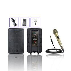 STARAUDIO 15'' 4000W PA DJ Audio Powered Active Speaker System W/Bluetooth Dynamic Microphone Wired Handheld Microphone SHD-15
