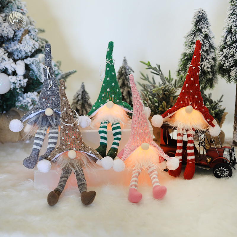 Christmas Tree Hanging Decoration Christmas Decorations for HomeLED Light Rudolph Glow Doll Ornaments Pendants New Year 2021