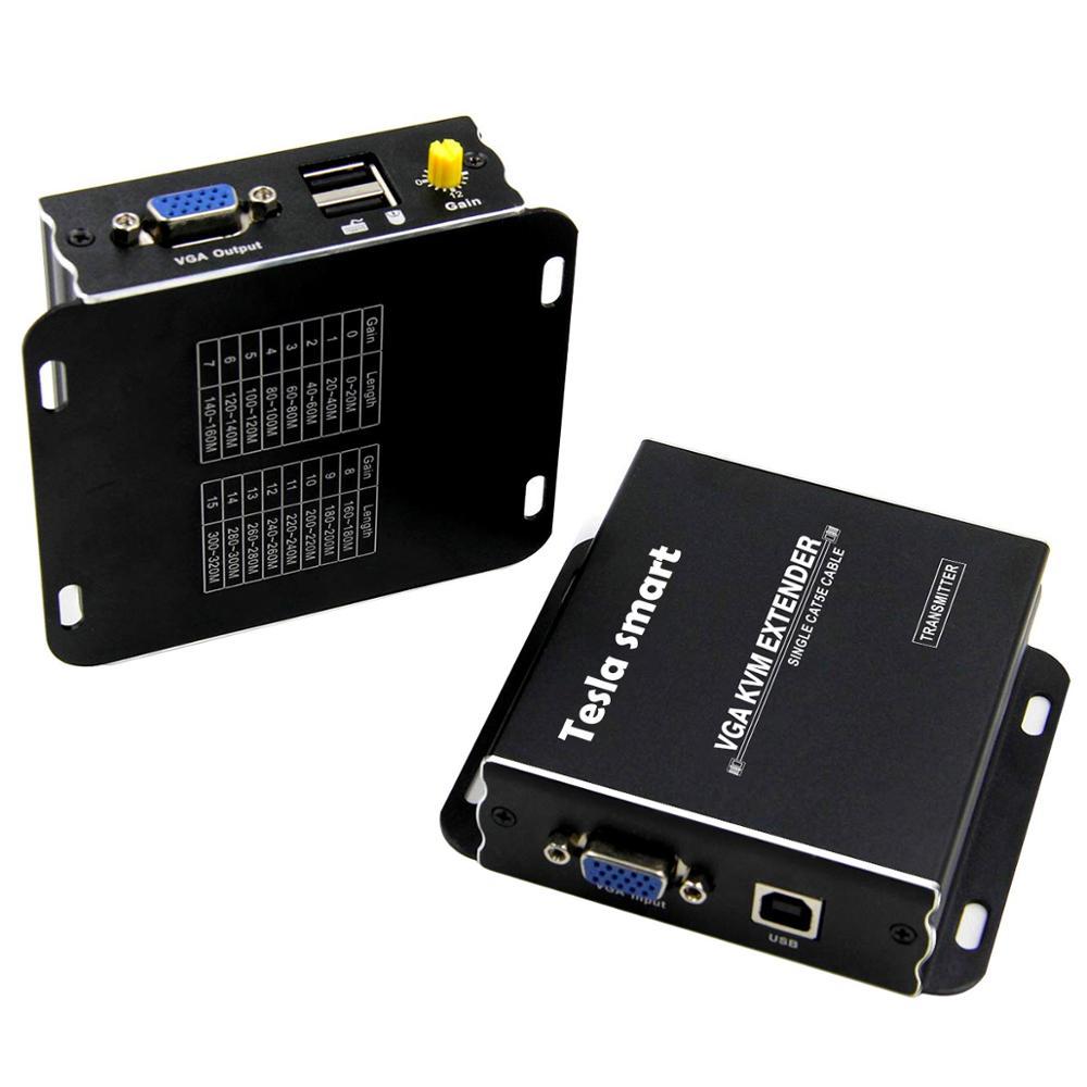 USB VGA KVM Extender 300m 1080P 60Hz Lange Palette 984ft Über Cat5e Cat6 Ethernet Kabel VGA Extender (bis zu 300 m, sender + Empfänger) - 4