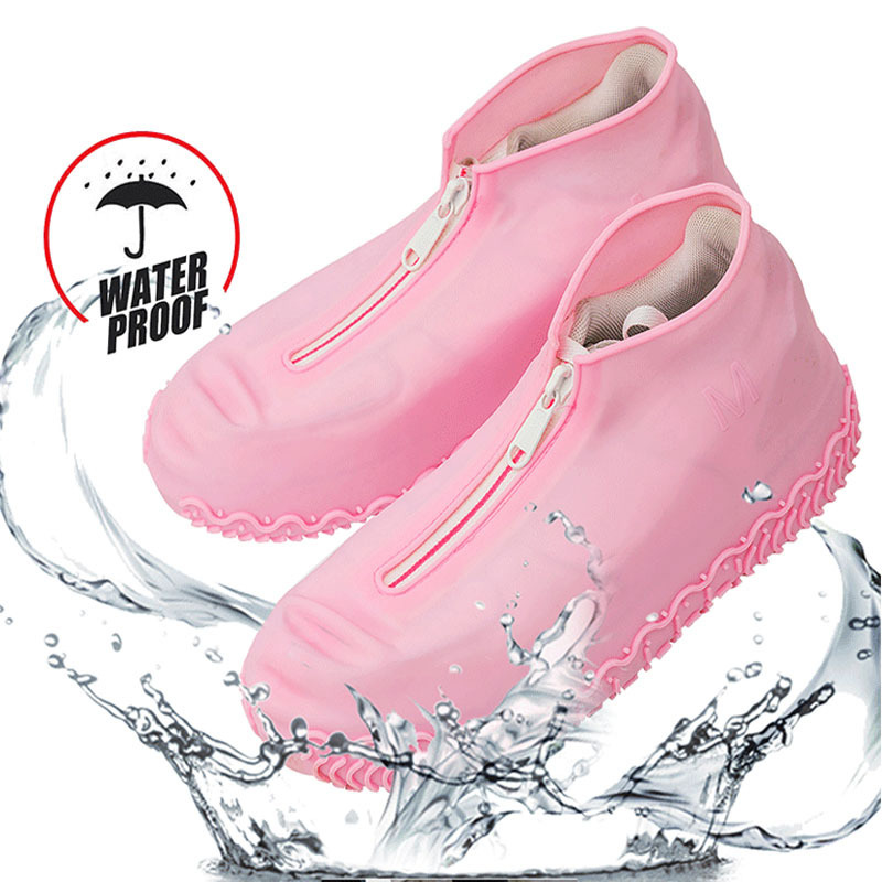 Spring Reusable Shoe Cover Waterproof Zipper Cover Shoes Men/women Rain Shoes Covers Waterproof