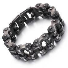 Granny Chic Brushed Bike Chain Bracelet Cool Biker Bicycle Mens Fashion Male Stainless Steel Hand Jewelry