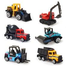Kids Mini Diecast Alloy 1:64 Model Car Engineering Truck Excavator Bulldozer Forklift Educational Toys Gifts for Children Boys