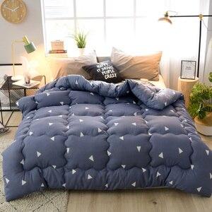 Edredón con estampado en 3d, manta gruesa muy cálida para invierno, edredón de tamaño doble King Queen, edredón de diseño nuevo
