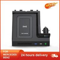 Cargador de teléfono inalámbrico para coche, accesorios de carga QI de 15W para Mercedes Benz W205 AMG C43 C63 AMG GLC 43 C63 X253 Clase C