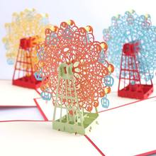 P3D Three-dimensional Ferris Wheel Christmas Card Romantic Party Birthday Wedding Decoration CM