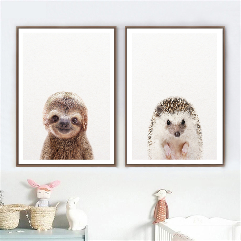 Hedgehog Animal Canvas Print Painting Framed Home Decor Wall Art Picture Poster