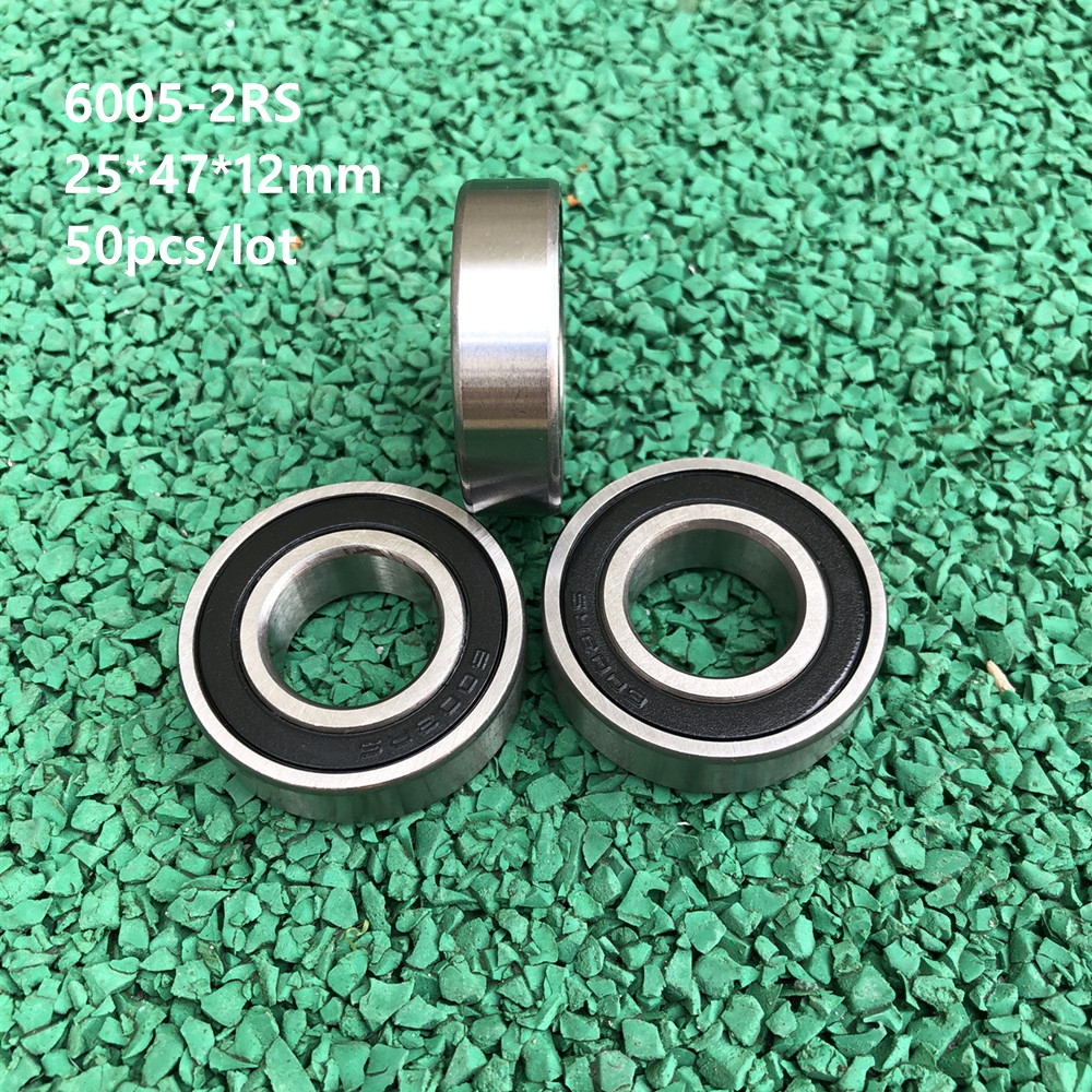 25mm*47mm*12mm 10PCS 6005-2RS 6005RS Deep Groove Rubber Shielded Ball Bearing