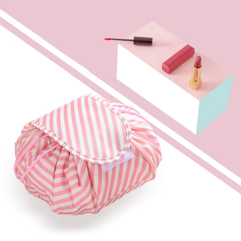 Travel Storage Bag Portable Polyester Folding Wash Storage Bag Cosmetic Bag Lazy Large Capacity Drawstring Magic Cosmetic Bag
