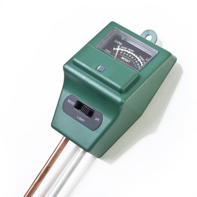 3 In 1 Soil PH Meter Flower Pot Hygrometer Soil Tester Plants Growth Moisture Light Intensity Meter Instrument Garden Tools