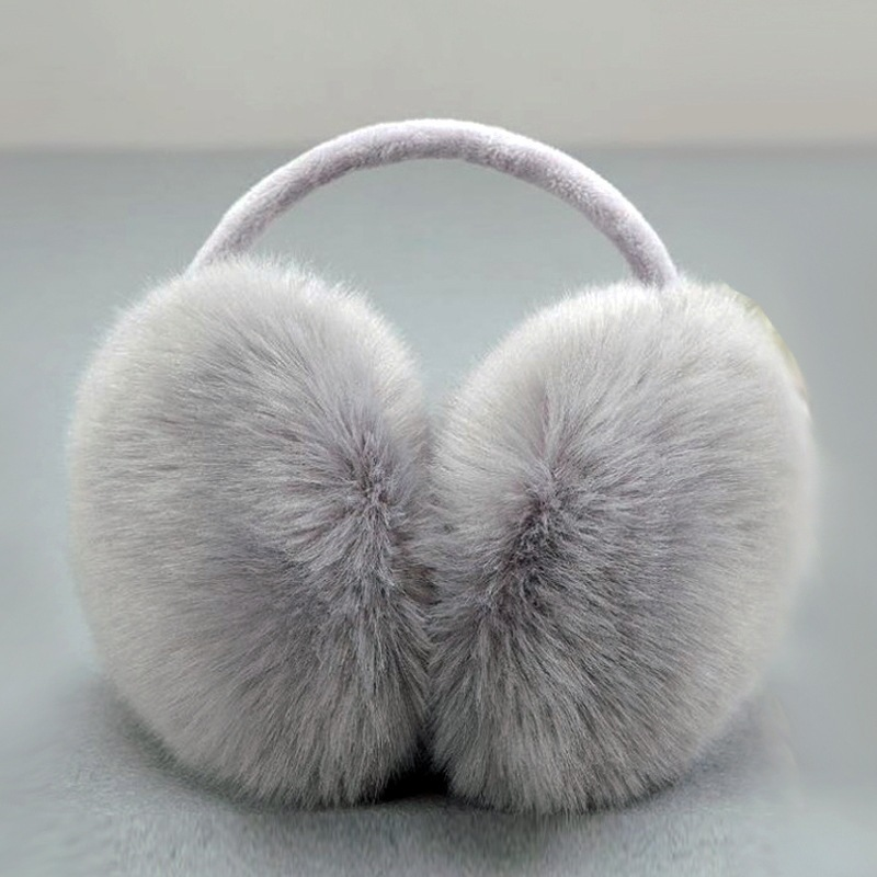 Solid Unisex Simple Winter Earmuffs Ear Cover Cute Warm Ear Muffs Imitation Fur Earmuffs Oversized Fox Fur Ear Cover Ear Warmer