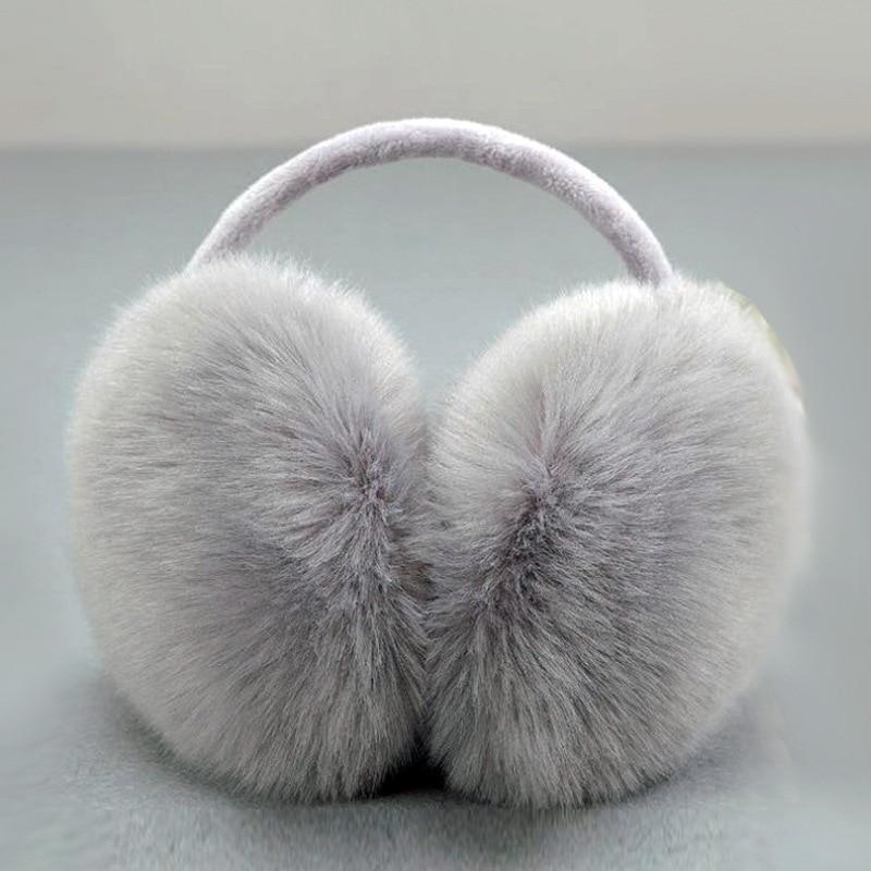 Solid Unisex Simple Winter Earmuffs Ear Cover Cute Warm Ear Muffs Imitation Fur Earmuffs Oversized Fox Fur Ear Cover Ear Warmer
