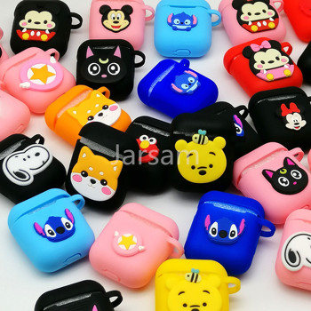 Wholesale medley 50 pcs universal TPU case Cartoon Earphone Case For Apple AirPods Cases For Airpods Protective Cover