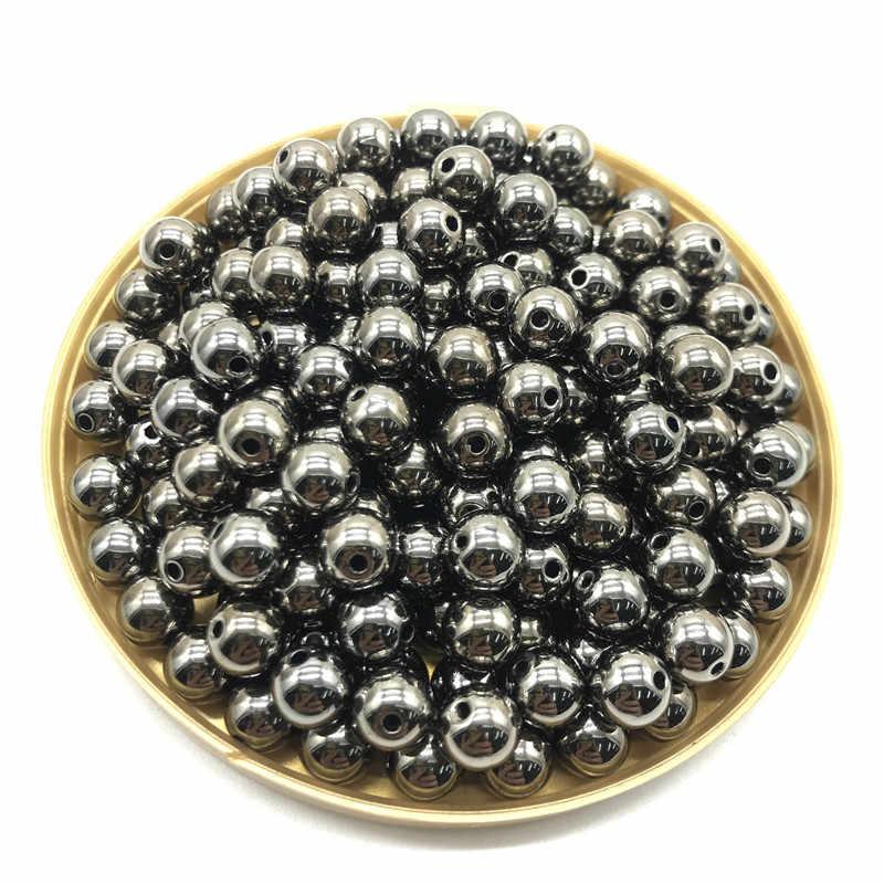الجملة 3 4 6 8 10 12 مللي متر 30-500 قطعة الذهب/الفضة/بندقية-معدن مطلي CCB البذور المستديرة خزر عازل لصنع المجوهرات لتقوم بها بنفسك