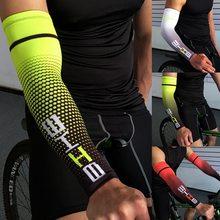 1 pçs legal dos homens do esporte ciclismo correndo bicicleta uv proteção solar manguito capa braço de basquete manga esporte braço aquecedores mangas