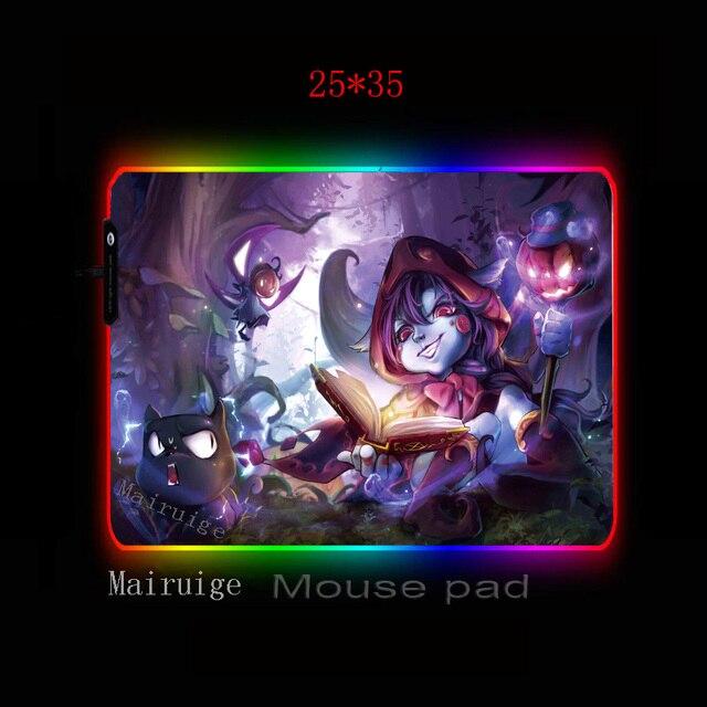 Фото большой коврик для мыши mairuige rgb с черными фиксирующими