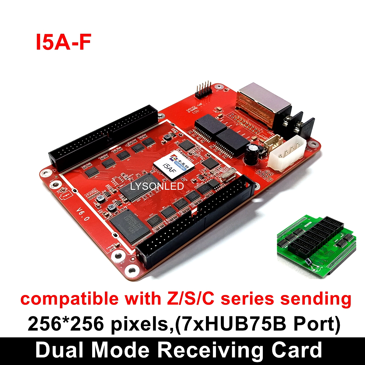 Colorlight I5A-F Full Color Dual Mode Control Card With HUB75B Adapter, Synchronous And Asynchronous Small RGB LED Video Card