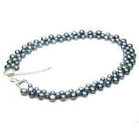 100% collar de perla negra de agua dulce Real para mujer, Gargantilla gruesa de boda collar de perlas naturales joyería wift Regalo de Cumpleaños de mamá