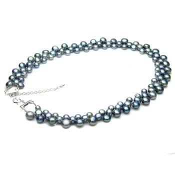 100% real de água doce preto pérola colar para as mulheres, casamento chunky gargantilha natural pérola colar jóias wift mãe presente de aniversário