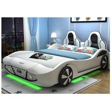 Новая Детская кровать в виде машины крутые машины детская кровать king size Гоночная машина кровать