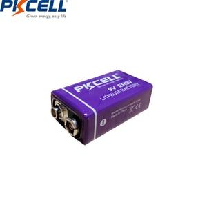 Image 3 - 2 pièces PKCELL ER9V 1200mAh 9V Li SOCl2 Batteries au Lithium Bateria pour détecteur de fumée batterie lithium ion 6LR61 6f22thermome électronique